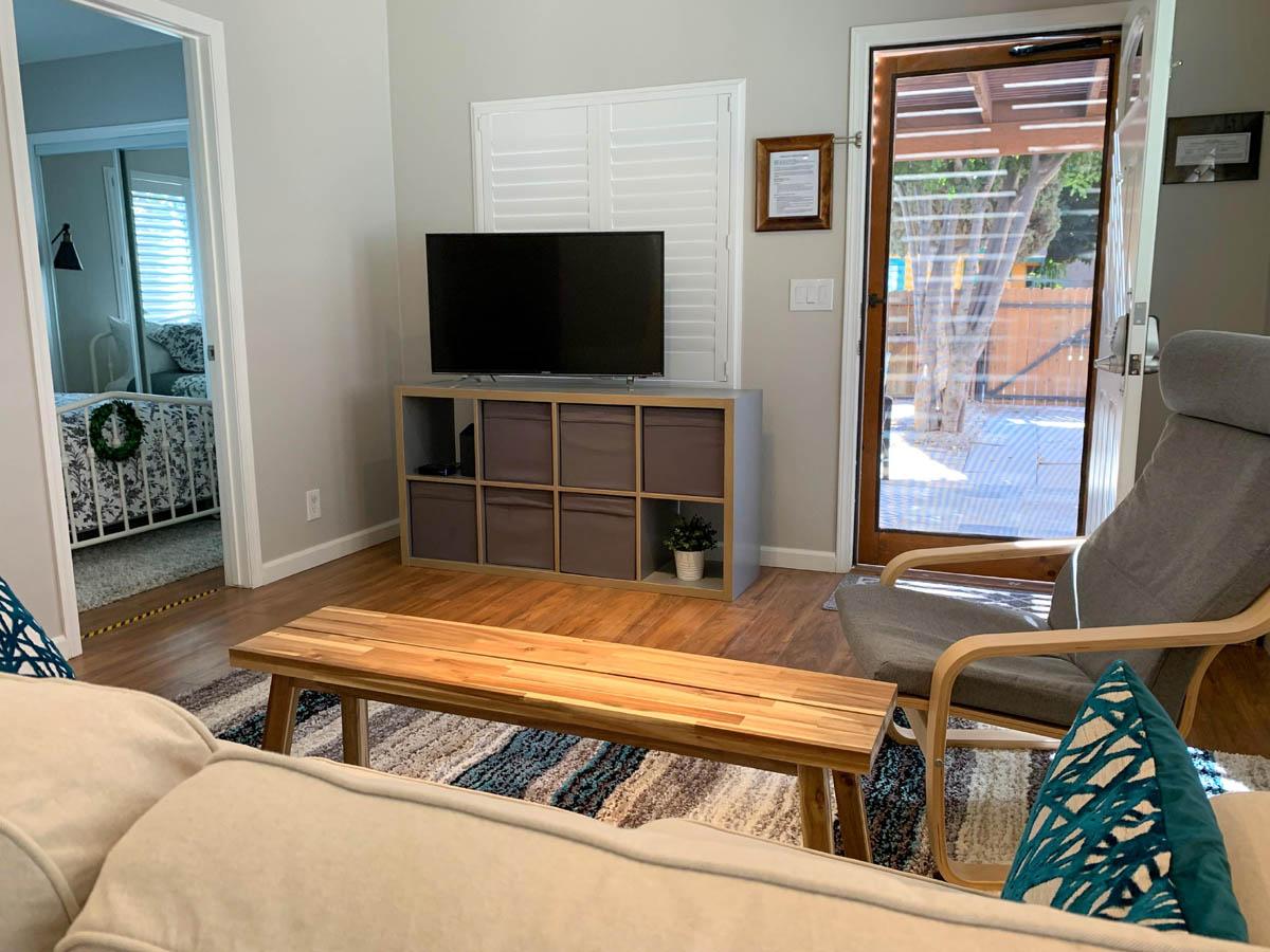 4-TV-on-media-cabinet-front-door-open